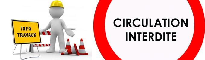 Circulation interdite rue des écoles pendant les travaux