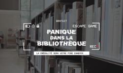 ESCAPE GAME - Panique dans la bibliothèque