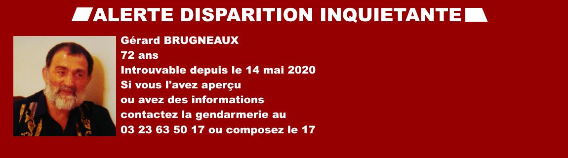 Alerte Disparition – Gérard Brugneaux